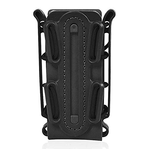 Gexgune 9mm Universal Pistol Magazine Pols Holster Molle Clips de cinturón Tactical Fastmag Holder Soft Shell Bag Singal mag Carrier Hunting Airsoft Gear Fit para 45APC AK M4 Glock