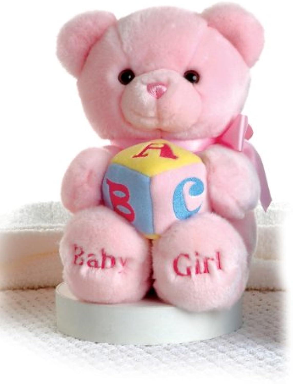 Aurora Baby Girl Comfy Pink Musical ABC 12Inch Classic Teddy Bear