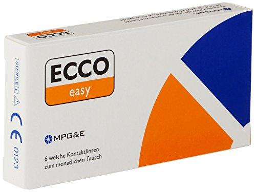 ECCO Easy T, torische Monatslinsen weich, 6 Stück / BC 8.70 mm / DIA 14.4 / CYL -1.25 / ACHSE 180 / -1.75 Dioptrien