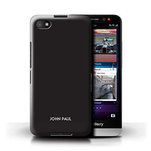 Stuff4® Personalisiert Individuell Farbe Palette Hülle für BlackBerry Z30 / Lakritze Schwarz Design/Initiale/Name/Text Schutzhülle/Case/Etui