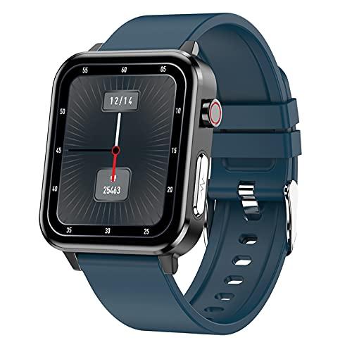 FMSBSC Smartwatch Relojes Inteligentes Hombre, Rastreador de Salud con Pulsómetro, Ritmo respiratorio, Monitor de presión Arterial oxígeno en Sangre Seguimiento del sueño, Reloj Deportivo,Azul