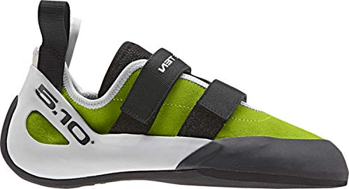 Five Ten Gambit VCS Mens Climbing Shoes, (Semi Solar Slime, Black, Clear Grey), Size 7