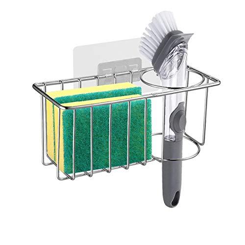 Sponge Holder for Sink,Sink Brush Holder,Kitchen Sink Caddy Sponge Holder,Stainless Steel Hanging Kitchen Organizer Rack for Sink