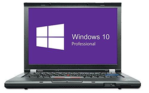 Lenovo ThinkPad T410 Notebook | 14,1 Zoll | Intel Core i5-520M @ 2,4 GHz | 4GB DDR3 RAM | 160GB HDD | DVD-Brenner | Windows 10 Pro vorinstalliert (Generalüberholt)