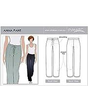 Estilo Arc–patrón de costura para pantalón Anna–todos los tamaños, Sizes 18-30