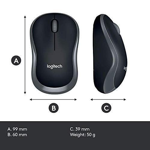 Logitech MK270 Wireless Keyboard and Mouse Combo — Keyboard and Mouse Included, 2.4GHz Dropout-Free Connection, Long Battery Life, Mouse and Keyboard, Standard Packaging