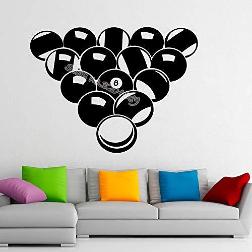Billard Pool Acht Anzahl Wandaufkleber Snooker Sport Spielbälle studio Home Interior Design Schlafzimmer Dekor Kunst Wandbilder 56X42CM