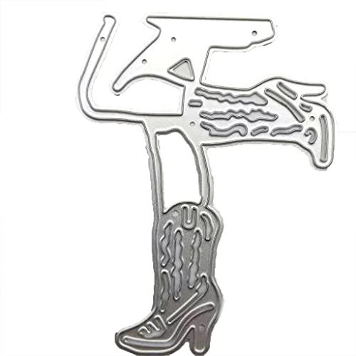 Troquel de corte de metal a la moda, zapatos de tacón alto,...