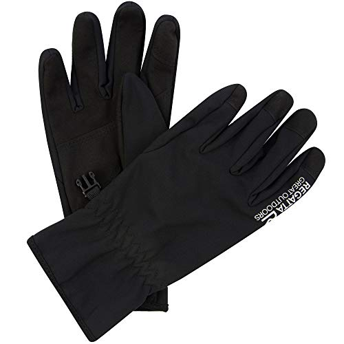 Regatta Herren Softshell' Warm Stretch Gloves Handschuhe Kinder, Schwarz, m