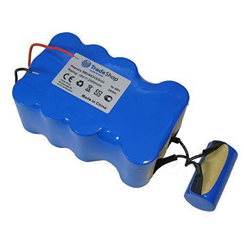 TradeShop Premium - Batería Ni-MH (18 V/2000 mAh/36 Wh, sustituye a Bosch FD9403, 18 V/100 W + 10 W, para aspiradoras BBHMOVE4 BBHMOVE6/03)