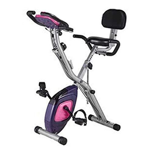 Car Inicio Bicicleta estática, Ajustable magnética Entrenamiento de Resistencia Cardiovascular, la exhibición con el corazón-Rate Sensor, Ajustable Manillar y Altura del Asiento