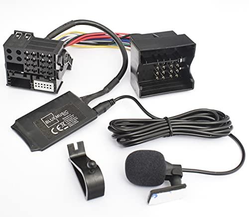BlueMusic Bluetooth Freisprecheinrichtung Musik Adapter kompatibel mit BMW E39 X5 E53 Z4 E85 E86 X3 E83 Flachpin 40pin Quadlock New Generation Radio