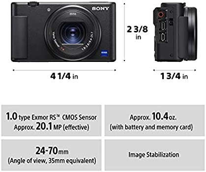 Sony Zv 1 Vlog Camera With Fast And Precise Focus Transition Pro Quality Bokeh Product Showcase Setting Vari Angle Screen 4k Hdr Video Selfie And More Dsc Zv1 Buy Online At Best Price In