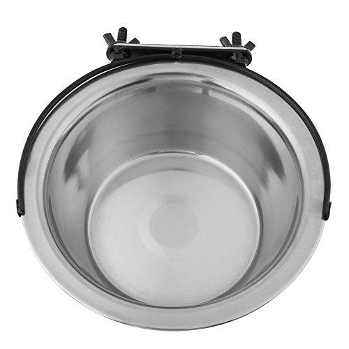 Ciotole per cani, 3 misure in acciaio inossidabile per alimenti per animali domestici da appendere Mangiatoia per acqua Ciotole fisse per cani con supporto per bulloni per cani di taglia media(L)