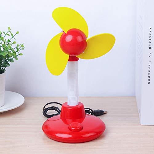 WDFDZSW Cute Cartoon Big Tree Ventilatore Mini USB Battery Morbida Foglia di Sicurezza a Doppio Uso del Piccolo Ventilatore Desktop Ufficio Fan palmare (Color : Red)