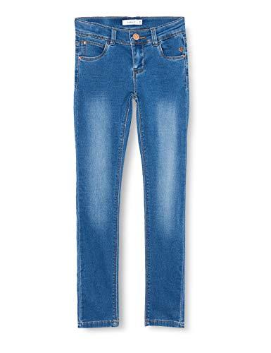 NAME IT Mädchen Nkfpolly Dnmthayers 2482 SWE Pant Noos Jeans, Medium Blue Denim, 158