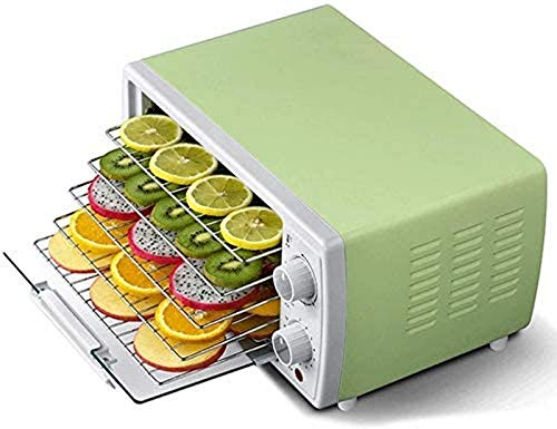 SHKUU 5 Tray Mini Electric Food Dehydrator with Temperature Controller, Timer, Fruit Dryer Machine, Recirculation Heat Distribution, for Fruits, Vegetables, Herbs, Mushrooms