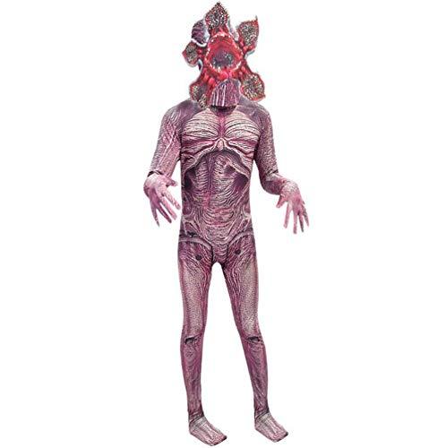 Piranha-Maske Kostüm Set,Halloween Junge Cosplay Seltsame Geschichte Big Boy Parodie Abschlussball Party Piranha Maske Karneval Overall Cosplay Faschingkostüme,120cm