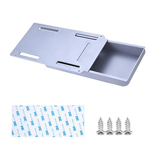 Caja de almacenamiento, organizador de cajones debajo del escritorio, caja de almacenamiento creativa para mesas de escritorio de oficina o escuela (gris 22 x 11 x 3,5 cm)