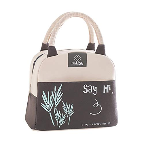 Fine Lunch Bag for Women Insulated Lunch Box with Adjustable Shoulder Strap,Water-Resistant...