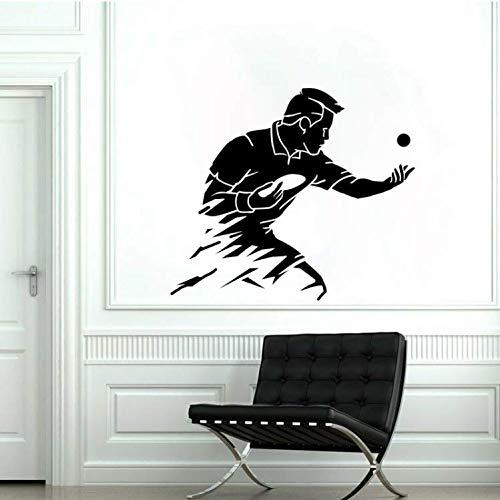 YUTAO Wall Sticker 49 * 43 Cm Mode Wandaufkleber Tischtennis Pvc Wohnzimmer Das Schlafzimmer Dekor Kreativ
