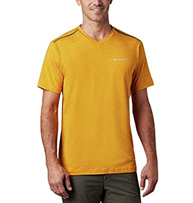 Columbia Men's Tech Trail Ii V-Neck Shirt, Bright Gold, Large