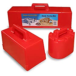 snow brick molds for winter with kids