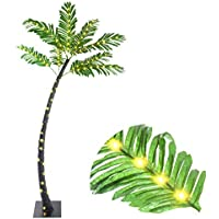 Elnsivo Light Up 5ft Tropical Artificial Branch Lighted Palm Tree