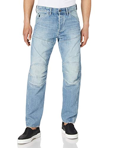 G-STAR RAW Mens 5620 3D Original Relaxed Tapered Jeans, Sun Faded Ice Fog Destroyed B988-C275, 34W / 32L