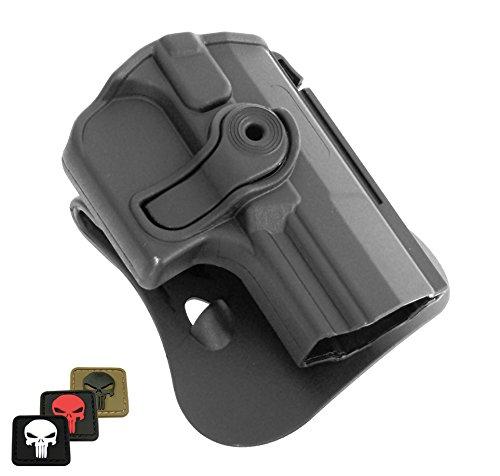 imi-z1420IMI DEFENSE Polymer Roto Rechte Hand Paddle Holster für Walther M1(PPQ Classic), M2, Marineblau SD Pistolen + 1x Mini PVC Punisher Patch