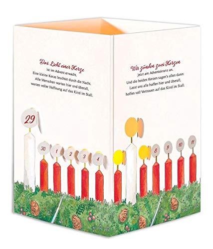 Windlicht-Aufstellkarte »Wichern-Adventskalender«
