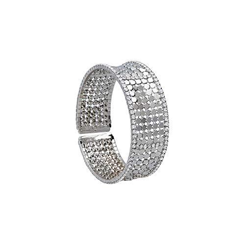 Stroili - Bracciale bangle con strass in metallo rodiato color argento per Donna