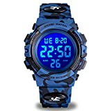 Watch for Kids Age 4-12, Kids Camouflage Digital Sports Waterproof Outdoor Analog Electronic Watches with Alarm Stopwatch, Children Birthday Presents Gifts Toys for Age 4-12 Year Old Boys Girls