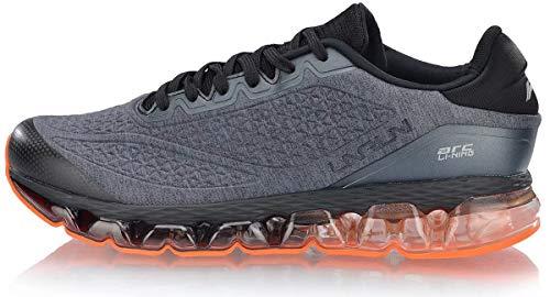 LI-NING Men Bubble ARC Cushion Running Shoes Air-Sole TPU Support Lining Athletic Walking Sneakers Black/Orange