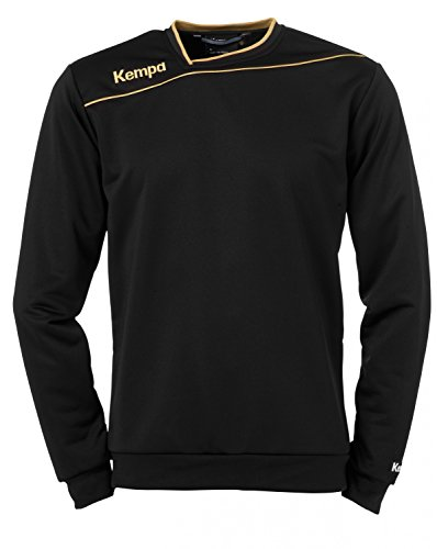 Kempa Pullover Training Top, Schwarz/Gold, XXS