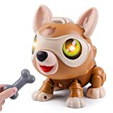 Eutionho DIY Robot Dog, STEM Electronics Smart Puppy Pet Touch Control, Voice-Controlled Robotic Puppy with Light Flashing Eye, Interactive Educational Kids Toy Gifts for 3-12 Years Old Boys Girls