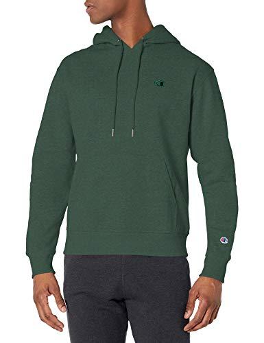 Champion Men's Powerblend Pullover Hoodie, Dark Green, Large