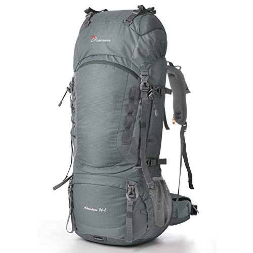 MOUNTAINTOP 80L Internal Frame Hiking Backpack Gray