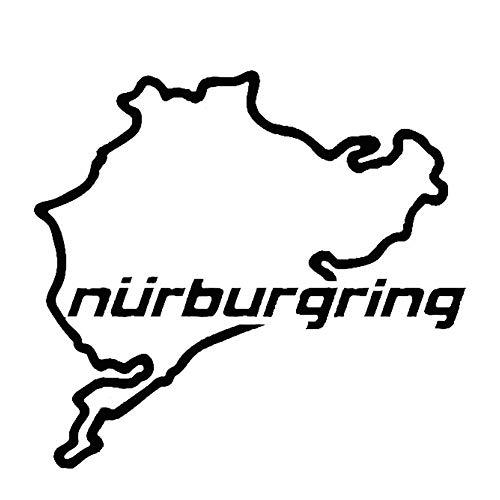 Porfeet Auto Aufkleber, Nürburgring Karte Lustige Auto LKW Fahrzeug Reflektierende Abziehbilder Aufkleber Dekoration Gelb