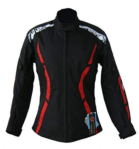 Warrior Gears® GL - Chaqueta de moto para mujer con armaduras CE