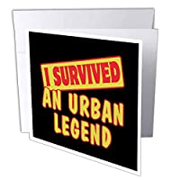Dooni Designs Survive Sayings – I Survived An Urban Legend Survival Pride andユーモアデザイン – グリーティングカード Set of 12 Greeting Cards