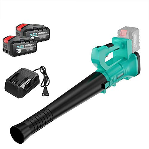 JYING Cordless Electric Leaf Blower.Including 18V/6.0Ah18V/9.0Ah Lithium Battery and Charger.6 Speed Variable,27~50m/s,Lightweight Handheld Garden Blower for Cleaning Leaves/Dust/Snow