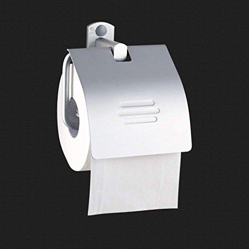 YNG Toilettenpapier-Gestell-Raum-Aluminiumfreier Locher-Toilettenpapier-Halter-Rollenpapier-Halter Wand-Toilettenpapier-Rollenpapier-Behälter-Verdickung