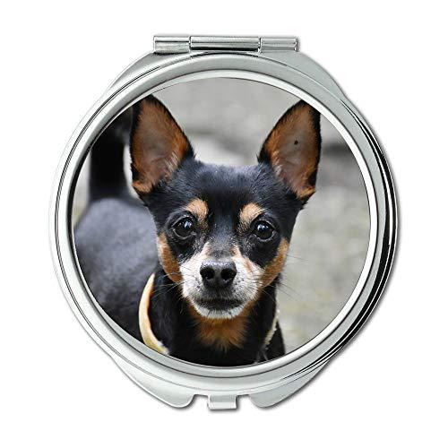 Yanteng Spiegel, Taschenspiegel, Doggy Dog Aufmerksamkeit Tier, Taschenspiegel, Tragbare Spiegel