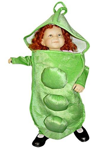Sy13/00 Gr. 86-92 Erbsen Kostüm für Fasching und Karneval, Kostüme für Baby Babies Kleinkinder, Faschingskostüm, Karnevalkostüm