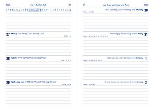 Letts 2020-2021 - Agenda scolastica a metà anno, formato A5, con visualizzazione settimanale A5 Giallo