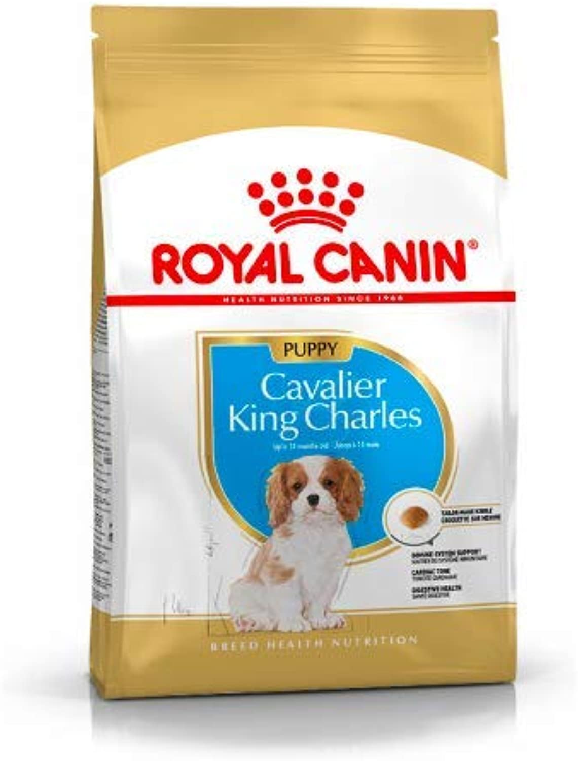 Maltbys' Stores 1904 Limited 7.5kg (5 x 1.5kg) Royal Canin CAVALIER KING CHARLES PUPPY Breed Health Nutrition Dog food