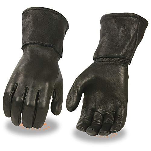Milwaukee Leather Men's Deerskin Leather Thermal Gauntlet Gloves G317 (L)