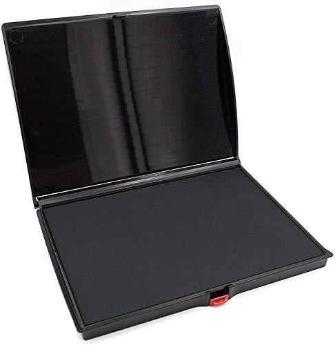 Veltec Premium Quality Felt Rubber Stamp Ink Pad, Large 5' x 7', Durable Lightweight (Black)