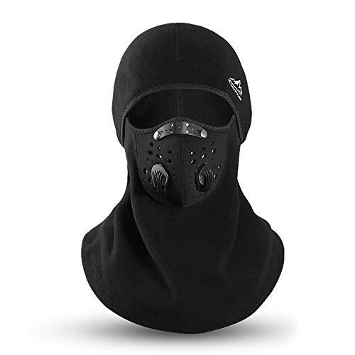 Cagoule d'hiver Masque de ski pour moto, masque d'équitation extérieur coupe-vent chaud et anti-buée